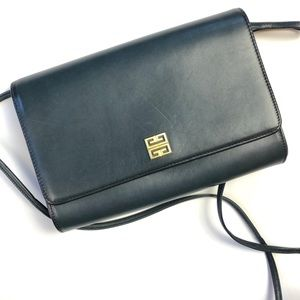 Givenchy Small Blue Crossbody Leather Bag
